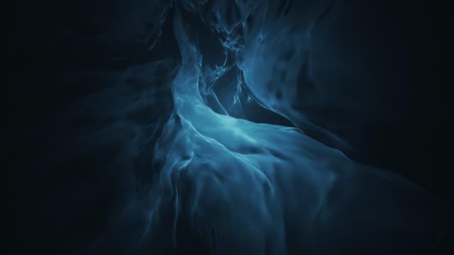 Deep Teal Fluid Abstract Flame Loop