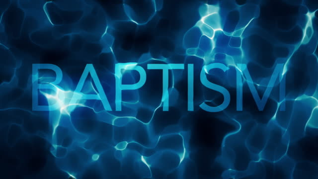 Deep Water BAPTISM Title Water Abstract Loop video