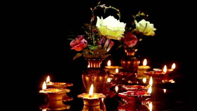 Deepak oil lamp. Deepavali video