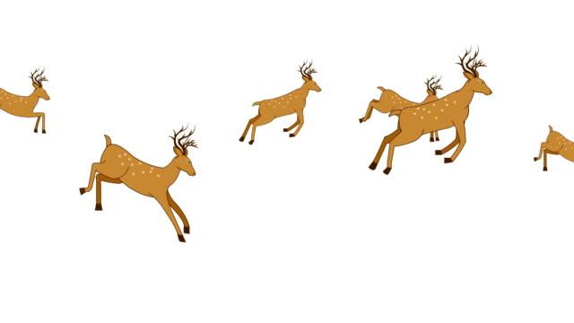 Cerf sautant Animation boucle - Vidéo