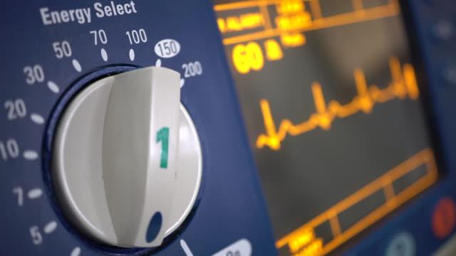 Defibrillator ECG  Wave work on Defibrillator defibrillator stock videos & royalty-free footage