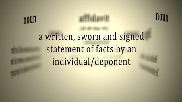 Definition: Affidavit video