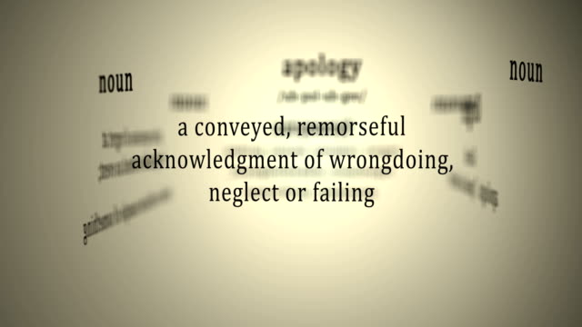 Definition: Apology video