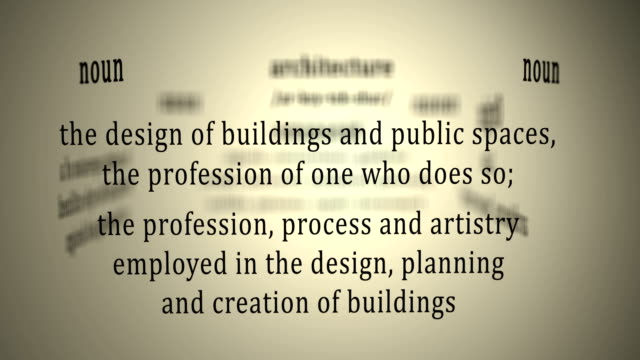 Definition: Architecture video