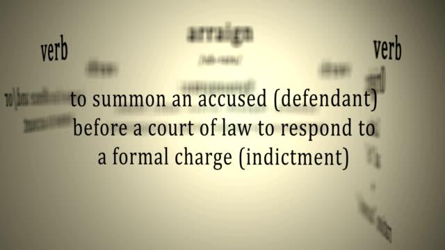 definition: åtala - lagbok bildbanksvideor och videomaterial från bakom kulisserna