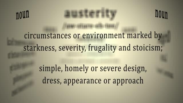 vídeos de stock, filmes e b-roll de definição: austeridade - arméria
