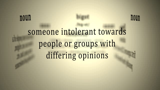 Definition: Bigot video