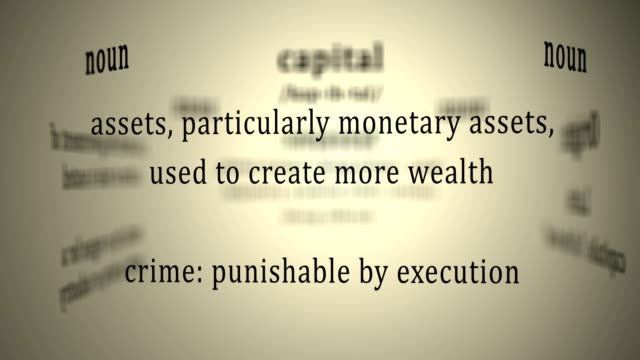 Definition: Capital This animation includes a definition of the word capital. durability stock videos & royalty-free footage