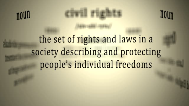 Definition: Civil rights This animation includes a definition of the word civil rights civil rights stock videos & royalty-free footage