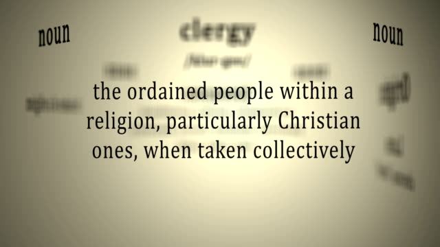 Definition: Clergy