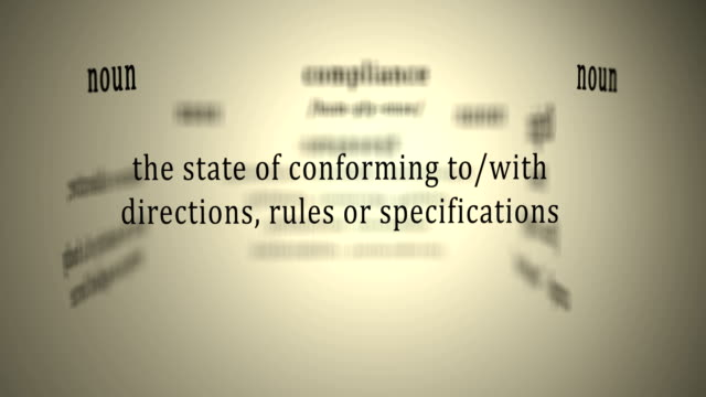 Definition: Compliance video
