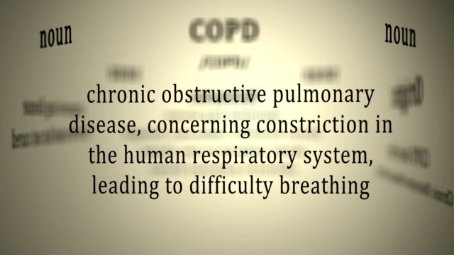 Definition: Copd This animation includes a definition of the word copd emphysema stock videos & royalty-free footage
