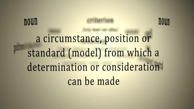 definition: kriterium - barometer bildbanksvideor och videomaterial från bakom kulisserna