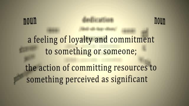 Definition: Dedication video
