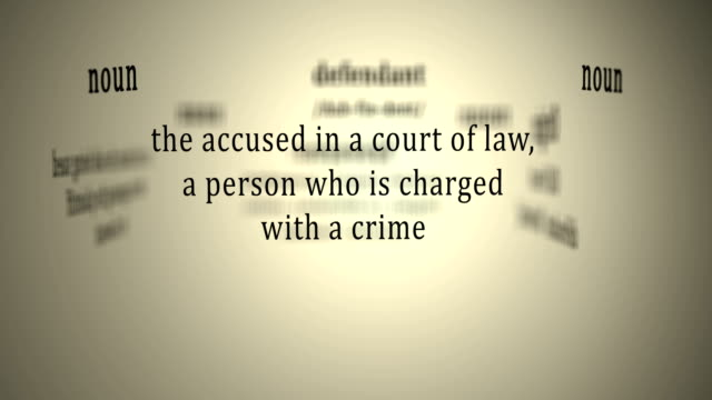 Definition: Defendant video