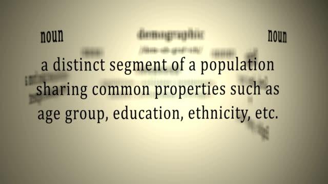 Definition: Demographic