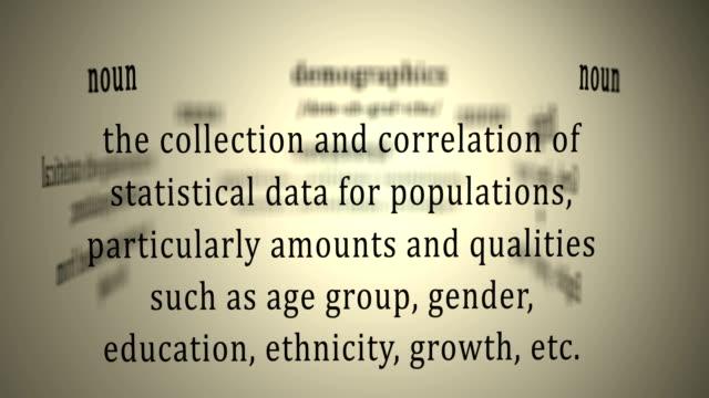 Definition: Demographics