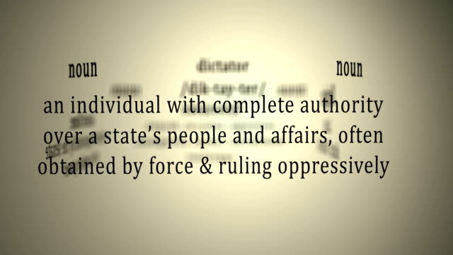 Definition: Dictator video