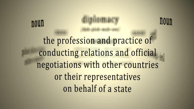 Definition: Diplomacy video