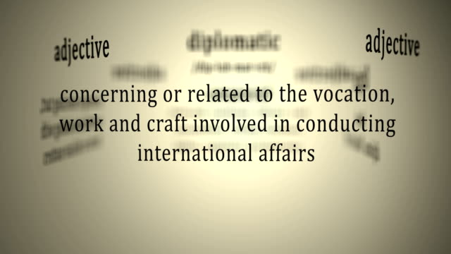 Definition: Diplomatic video