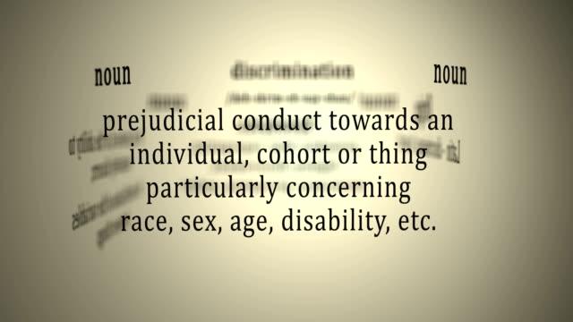 definition: diskriminering - etnicitet bildbanksvideor och videomaterial från bakom kulisserna