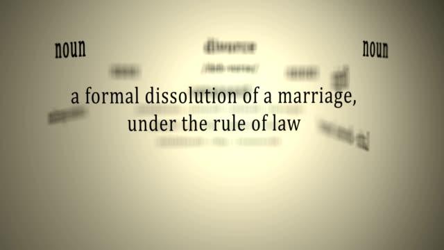 definition: divorce - divorce video stock e b–roll
