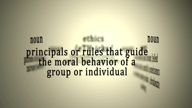 Definition: Ethics This animation includes a definition of the word ethics. morality stock videos & royalty-free footage
