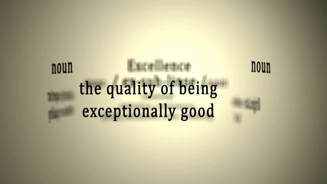Definition: Excellence video