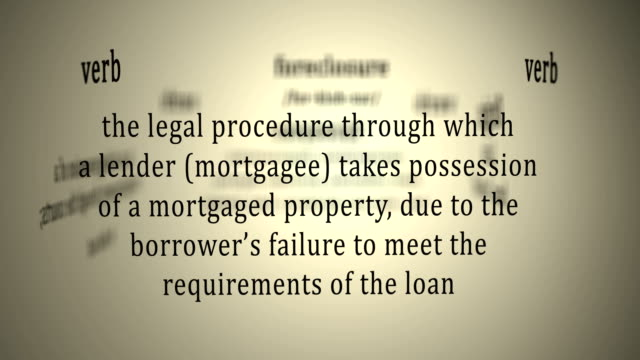 definition: foreclosure - foreclosure stock videos & royalty-free footage