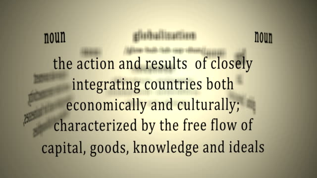Definition: Globalization This animation includes a definition of the word globalization. schengen agreement stock videos & royalty-free footage