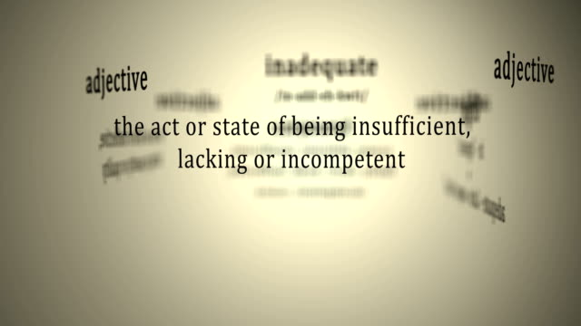 Definition: Inadequate video