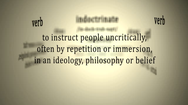 Definition: Indoctrinate video