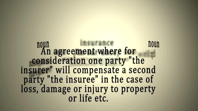 Definition: Insurance video