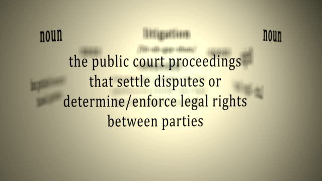 Definition: Litigation video