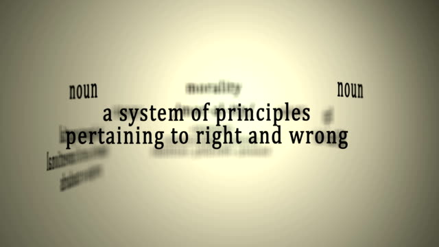 Definition: Morality This animation includes a definition of the word morality. morality stock videos & royalty-free footage