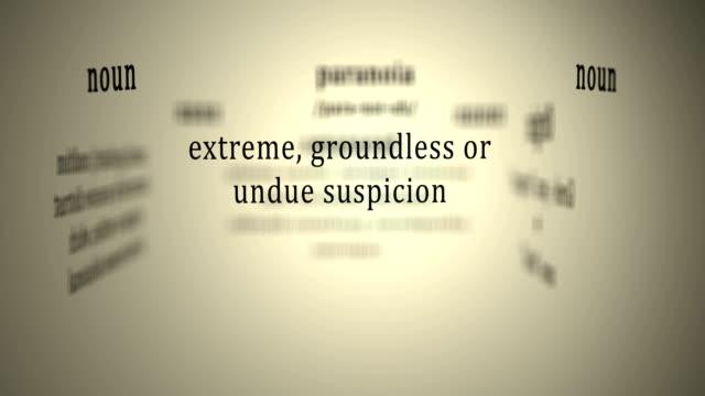 Definition: Paranoia video