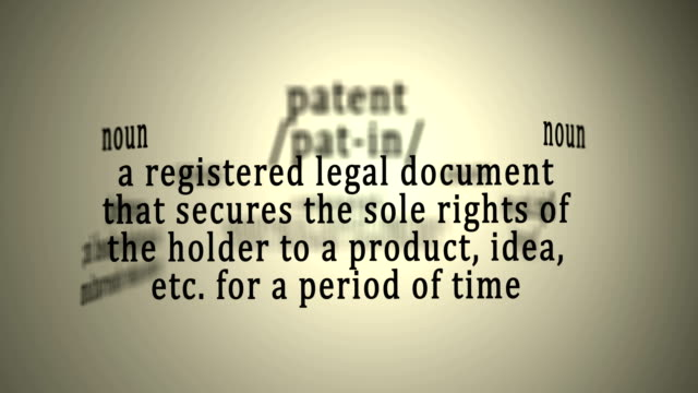 Definition: Patent video