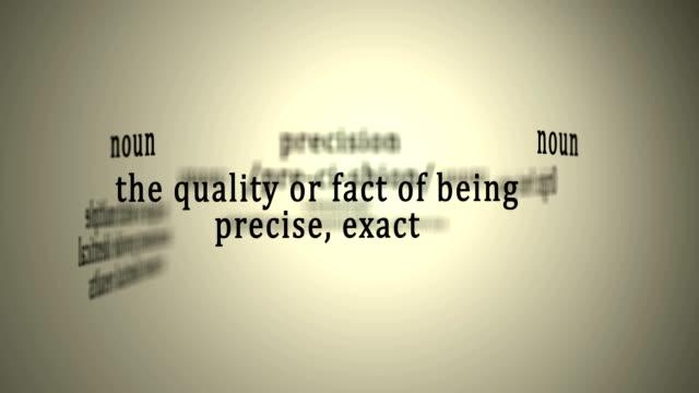 Definition: Precision video
