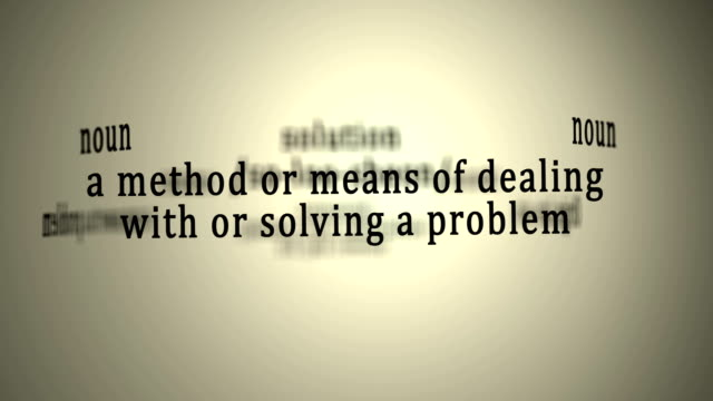 Definition: Solution video