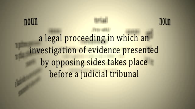 Definition: Trial video