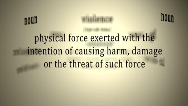 Definition: Violence video