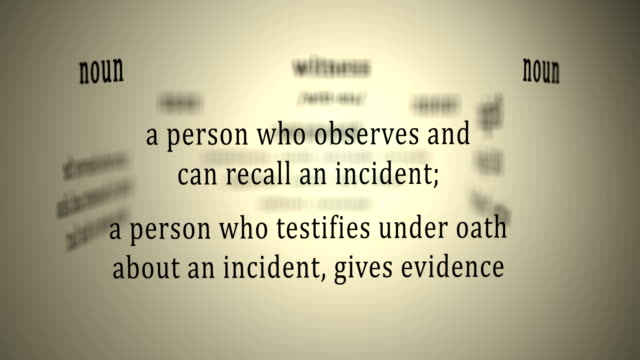 Definition: Witness video