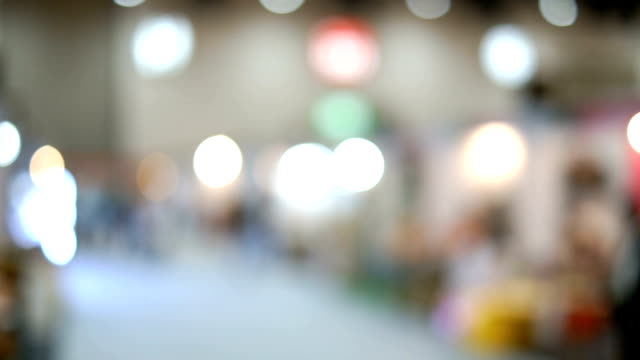 defocus footage in shopping hall - city walking background video stock e b–roll