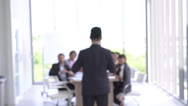 Defocus leader in meeting room