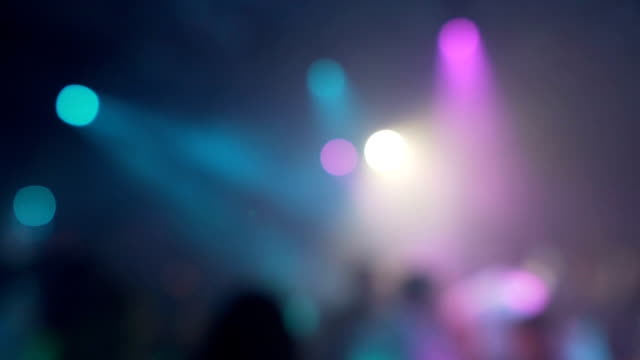 Defocus Party Lights In Night Club Abstract Background Stock Video
