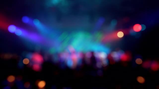 defocus party lampor i nattklubb - abstrakt bakgrund - nöjesklubb bildbanksvideor och videomaterial från bakom kulisserna