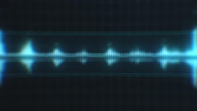 sfondo dello spettro della forma d'onda audio sfocato - frequenza video stock e b–roll