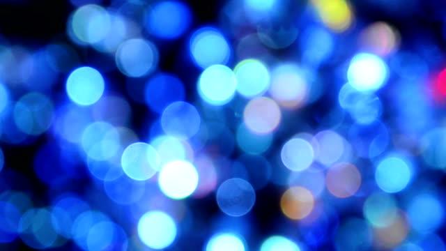 luce di natale sfocato bokeh - soft focus video stock e b–roll