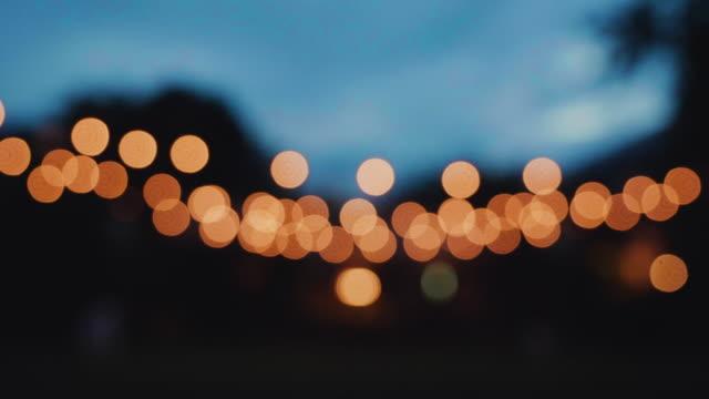defocused christmas light bokeh - soft focus video stock e b–roll