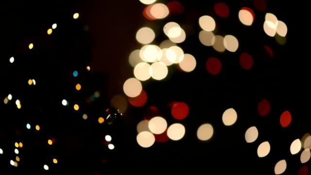 Defocused christmas lights video
